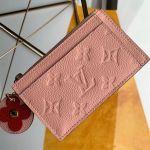 Monogram Empreinte Leather Flower Zipped Card Holder M68338 Pink 2019 Collection