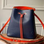 Neonoe Epi Leather Bucket Bag M55395 Blue/green 2019 Collection