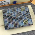 Damier Lv Pop Zoe Flap Wallet N60282 Blue 2019 Collection