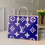 Monogram Canvas Onthego Tote Bag Blue 2019