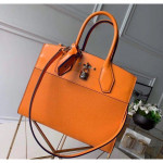 City Steamer Mm Bag In Smooth & Grainy Calfskin M55348 Orange Collection