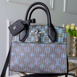 Monogram Pop City Steamer Mini Top Handle Bag M55469 Blue 2019 Collection
