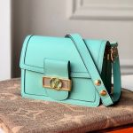Dauphine Mini Smooth Leather Shoulder Bag M55837 Azur Blue 2020 Collection