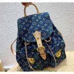 Monogram Denim Sac A Dos Backpack Pm Bag