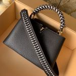 Capucines Bb With Braided Handle M55236 Black/white 2019 Collection
