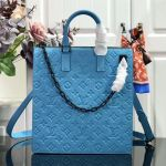 Men's Monogram Embossed Leather Runaway Tote Bag M44476 Blue 2019 Collection