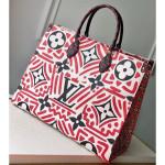 Print Onthego Gm Tote Bag Red Runway 2020