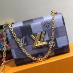 Monogram Check Twist Mm Chain Bag M50280 Blue Collection