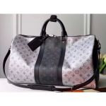 Monogram Canvas Keepall Bandouliere 50 Bag M43818 Black/silver 2020