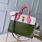 City Steamer Pm Bag In Smooth Calfskin M42188 Army Green/white/pink Collection