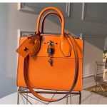 City Steamer Pm Bag In Smooth & Grainy Calfskin M55348 Orange Collection