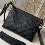 Monogram Empreinte Leather Triangle Shaped Shoulder Bag M54330 Black 2019 Collection