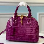Alma Bb Top Handle Bag In Crocodile Leather N94270 Purple 2019 Collection