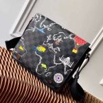 Men's District Pm Messenger Map Print Damier Graphite Canvas Shoulder Bag N40238 2019 Collection