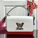 Twist Mm Epi Leather Top Handle Bag M50282 White/red 2019 Collection