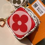 Giant Monogram Cube Coin Purse M67669 Pink/red Collection