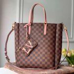 Skyline Damier Ebene Canvas Bucket Tote Bag N60294 Pink 2020 Collection