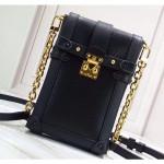 Epi Leather Trunks Phone Holder Mini Chain Wallet Bag M63913 Black 2019