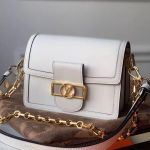 Dauphine Mini Smooth Leather Shoulder Bag M55836 White 2020 Collection
