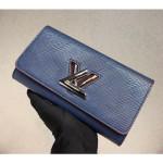 Epi Leather Twist Wallet M64401 Blue