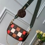 Multi-pochette Accessoires Triple Damier Monogram Canvas Shoulder Bag M44813 08 Collection