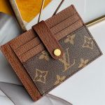 Monogram Canvas And Calfskin Porte Cartes Double Zipped Card Holder M66532 Brown 2019 Collection