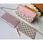 Damier Azur Canvas Pochette Felicie Chain Wallet Bag N60235 2019