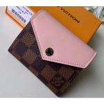 Damier Ebene Canvas Zoé Wallet N60167 Rose Ballerine 2019