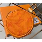 Monogram Denim Bag Charm & Key Holder Ocher 2019