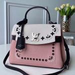 Lockme Ever Bb Monogram Flower Eyelets Top Handle Bag M53952 Pink/white/black 2019 Collection