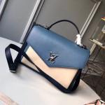 Mylockme Schoolbag Shaped Top Handle Bag M53891 Beige/blue  Collection