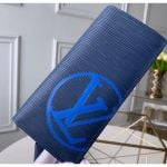 Epi Leather Bright-colored Lv Brazza Wallet M67911 Navy Blue 2019