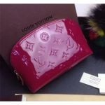 Monogram Vernis Leather Cosmetic Pouch M91495 Dark Red