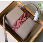 Taurillon Leather Capucines Bb/pm Top Handle Bag With Python Stripe Gray N90199 2020 Collection
