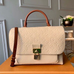 Marignan Messenger Bag In Empreinte Leather M44545 Crème Beige/caramel 2019 Collection