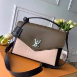 Mylockme Schoolbag Shaped Top Handle Bag M55323 Beige/green/black 2020 Collection