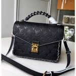 Pochette Metis Messenger Top Handle Bag M43942 Black Monogram Empreinte Leather 2018
