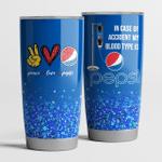 Peace Love Pepsi Tumbler Cup