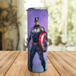Captain American Marvel Hero - Stainless Steel Eco Skinny Tumbler 20oz Coffee Cup