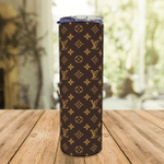 LV Monogram Gucci - Stainless Steel Eco Skinny Tumbler 20oz Coffee Cup