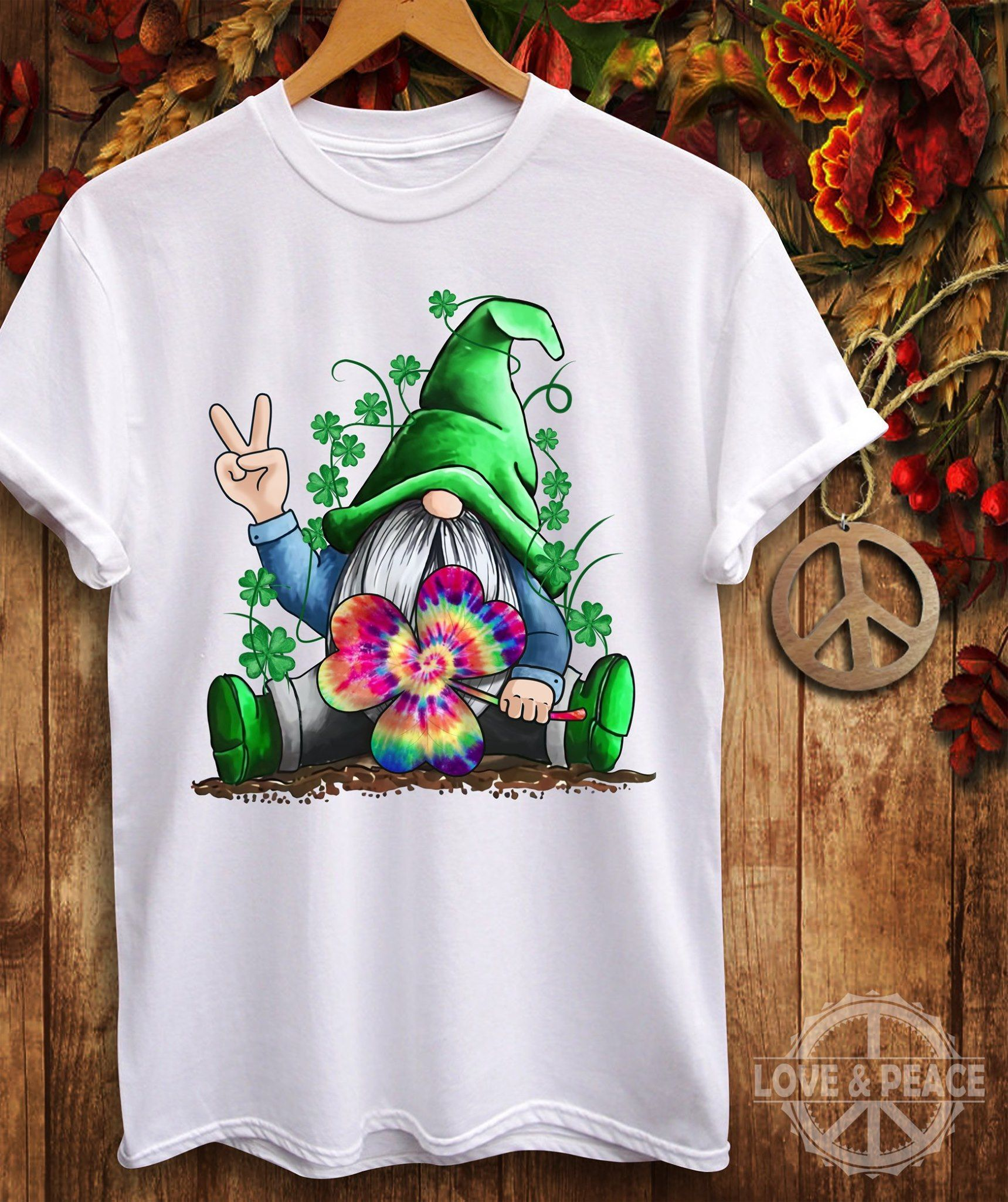 St Patrick'S Day Irish Hippie Gnome T Shirt Unisex T-shirt