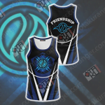 Digimon The Crest Of Friendship New Look 3D Tank Top