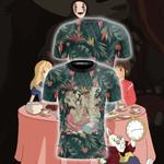 Studio Ghibli And Alice In Wonderland Unisex 3D T-shirt
