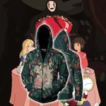 Studio Ghibli And Alice In Wonderland Zip Up Hoodie