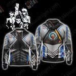 Yu Yu Hakusho Deathly Detectives ( black ) Unisex Zip Up Hoodie Jacket