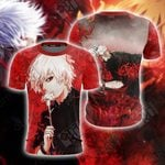 Tokyo Ghoul Kaneki Ken Unisex 3D T-shirt