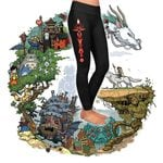 Studio Ghibli Totem Pole 3D Leggings