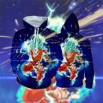 Super Saiyan Blue Hair Son Goku Dragon Ball Anime Lover Hoodie