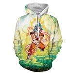 Super Saiyan Blue Hair Son Goku Dragon Ball 3D Hoodie