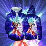 Super Saiyan Blue Hair Son Goku Dragon Ball Lover Hoodie